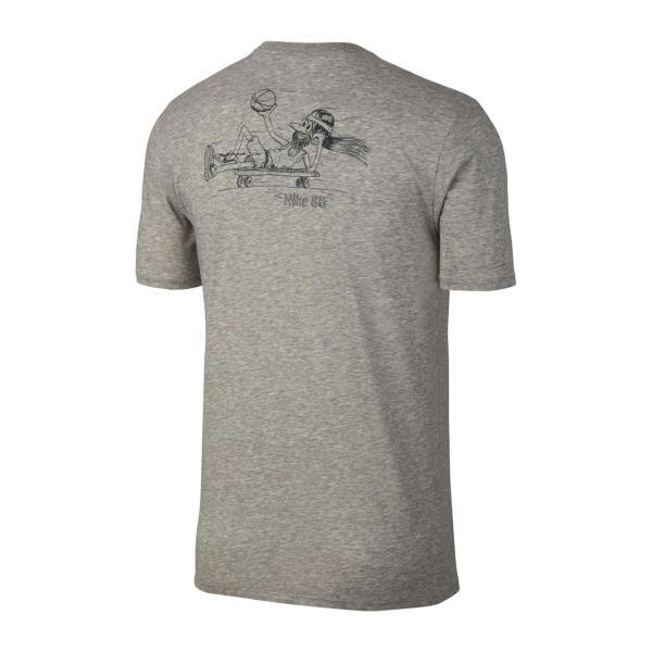 ナイキ NIKE Tシャツ SB ドライフィット BBALL デュード Tシャツ (DK GREY HEATHER/BLACK) 17HO-I|chapter-ex|02