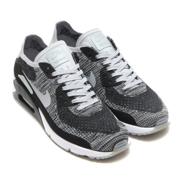NIKE AIR MAX 90 ULTRA 2.0 FLYKNIT (ナイキ エア マックス 90 ウルトラ 2.0 フライニット) (BLACK/WOLF GREY-PURE PLATINUM-DARK GREY) 17FA-I|chapter-ex