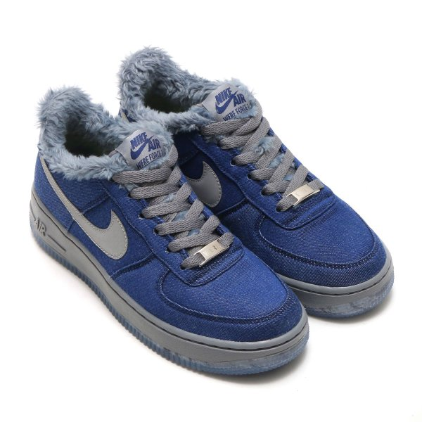 NIKE AIR FORCE 1 PINNACLE QS (GS) (BLUE VOID/METALLIC SILVER-COOL GREY) 17HO-S|chapter-ex