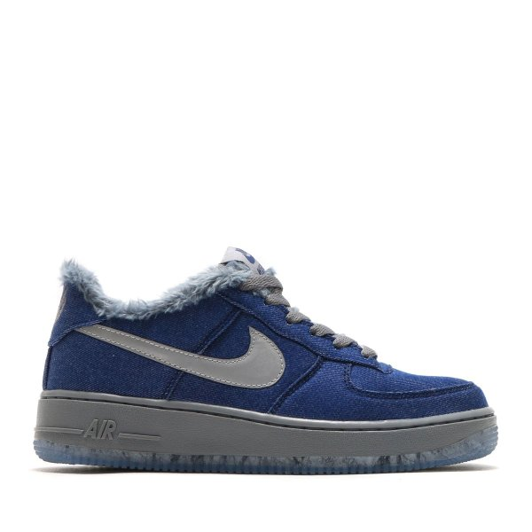 NIKE AIR FORCE 1 PINNACLE QS (GS) (BLUE VOID/METALLIC SILVER-COOL GREY) 17HO-S|chapter-ex|02