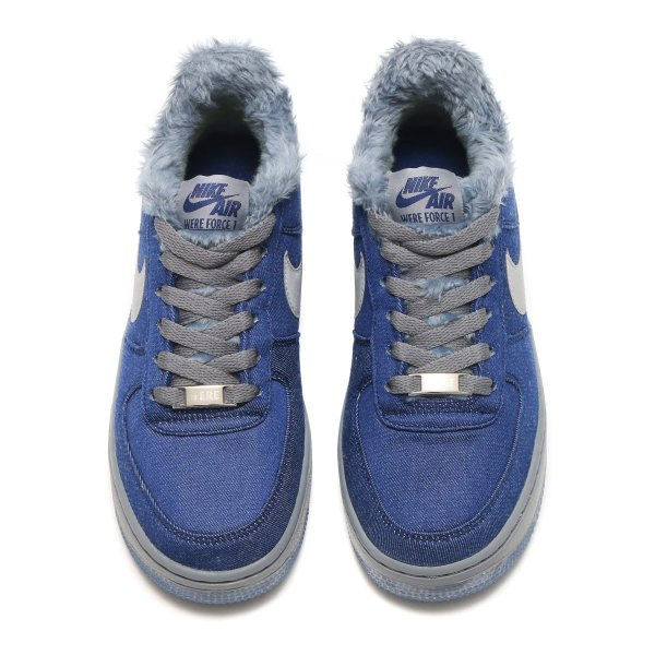 NIKE AIR FORCE 1 PINNACLE QS (GS) (BLUE VOID/METALLIC SILVER-COOL GREY) 17HO-S|chapter-ex|03