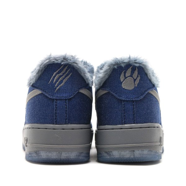 NIKE AIR FORCE 1 PINNACLE QS (GS) (BLUE VOID/METALLIC SILVER-COOL GREY) 17HO-S|chapter-ex|04