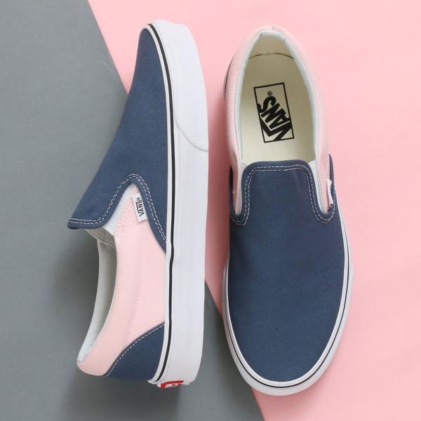 Kết quả hình ảnh cho Vans Slip-On Vintage Indigo Chalk Pink
