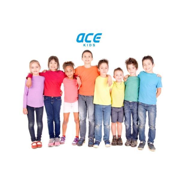 子供 半袖 Tシャツ 無地 ACE 5.4oz ホワイト ブラック グレー KIDS キッズ|chara-basket