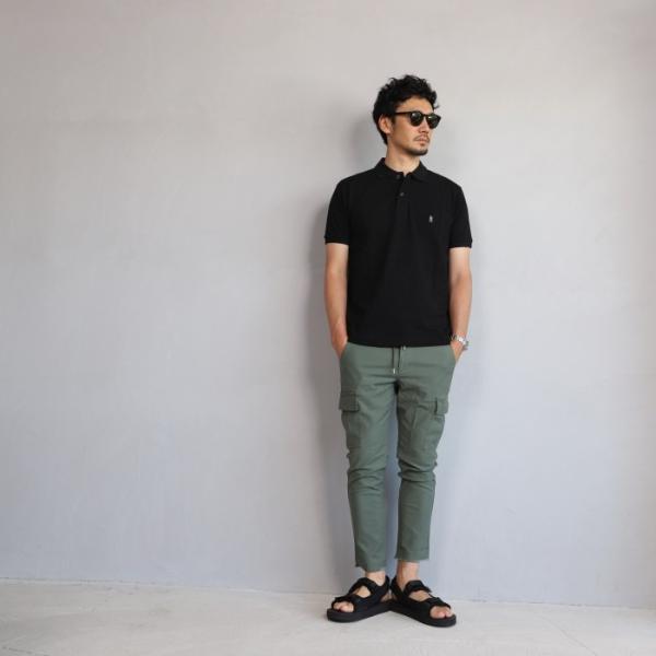 SALE 40%OFF マークゴンザレス ポロシャツ Mark Gonzales   ワンポイント刺繍 犬 ダルメシアン ブラック Polo BLACK 2019春夏新作|charger|04