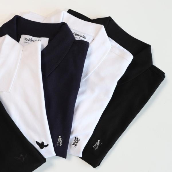 SALE 40%OFF マークゴンザレス ポロシャツ Mark Gonzales   ワンポイント刺繍 犬 ダルメシアン ブラック Polo BLACK 2019春夏新作|charger|05