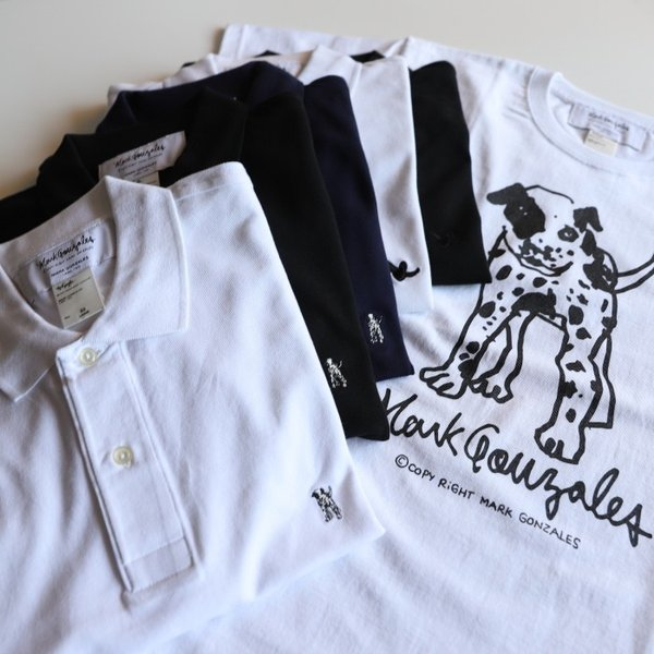 SALE 40%OFF マークゴンザレス ポロシャツ Mark Gonzales   ワンポイント刺繍 犬 ダルメシアン ブラック Polo BLACK 2019春夏新作|charger|06