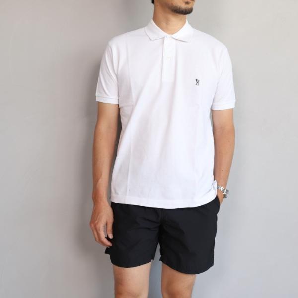 SALE 40%OFF マークゴンザレス ポロシャツ Mark Gonzales ワンポイント刺繍 犬 ダルメシアン ホワイト Polo WHITE 2019春夏新作|charger