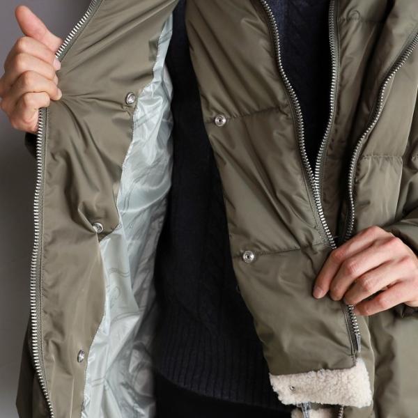 ニューズレス アウター NYUZELESS ビッグフーディー レイヤード ダウン コート BIG HOODY LAYERED DOWN COAT オリーブ OLIVE 2019秋冬新作 charger 08