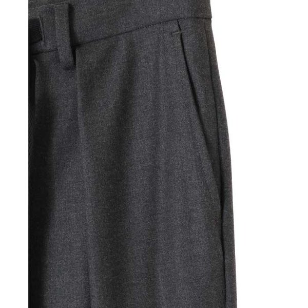 CLANE HOMME 通販 クラネオム 1TUCK WIDE PANTS ワンタック ワイド パンツ GRAY グレー 2019年秋冬新作|charger|04