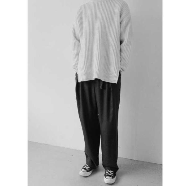 CLANE HOMME 通販 クラネオム 1TUCK WIDE PANTS ワンタック ワイド パンツ GRAY グレー 2019年秋冬新作|charger|07