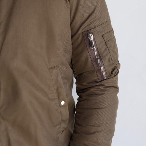 wjk MA-1 ジャケット ダブルジェイケイ  ブルゾン MA-1 PRIMALOFT プリマロフト カーキ khaki  2019秋冬新作|charger|10