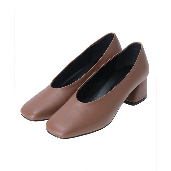 CLANE PETAL クラネペタル SQUARE TOES SHOES スクエア トゥー シューズ BROWN ブラウン|charger