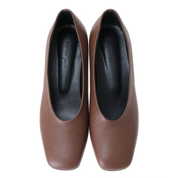 CLANE PETAL クラネペタル SQUARE TOES SHOES スクエア トゥー シューズ BROWN ブラウン|charger|02