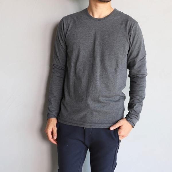 wjk カットソー ダブルジェイケイ 2-ply クルーネック L/S Tシャツ  2-ply CREW NECK L/S T チャコール charcoal 2019秋冬新作|charger