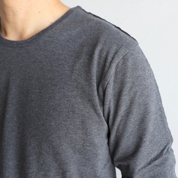wjk カットソー ダブルジェイケイ 2-ply クルーネック L/S Tシャツ  2-ply CREW NECK L/S T チャコール charcoal 2019秋冬新作|charger|02