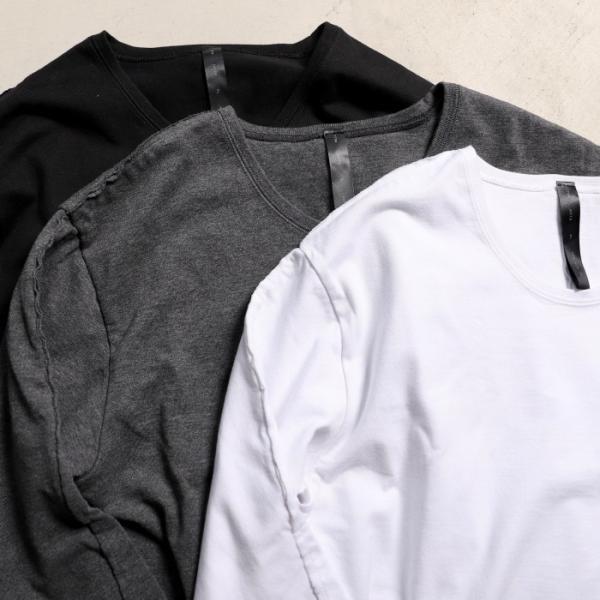 wjk カットソー ダブルジェイケイ 2-ply クルーネック L/S Tシャツ  2-ply CREW NECK L/S T チャコール charcoal 2019秋冬新作|charger|06