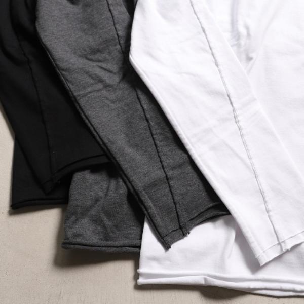 wjk カットソー ダブルジェイケイ 2-ply クルーネック L/S Tシャツ  2-ply CREW NECK L/S T チャコール charcoal 2019秋冬新作|charger|07