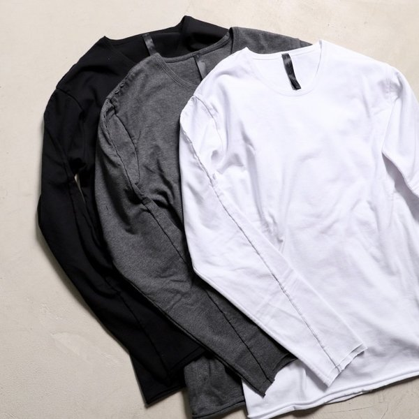wjk カットソー ダブルジェイケイ 2-ply クルーネック L/S Tシャツ  2-ply CREW NECK L/S T チャコール charcoal 2019秋冬新作|charger|08