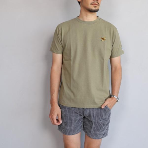 テス ザエンドレスサマー Tシャツ TES THE ENDLESS SUMMER ツマミ 刺繍Tシャツ カーキ 'TUMAMI' EMB TEE KHAKI 2019春夏新作|charger