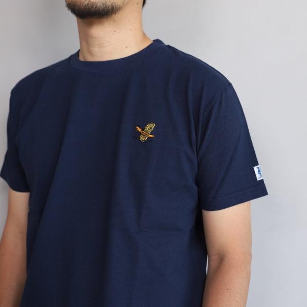 テス ザエンドレスサマー Tシャツ TES THE ENDLESS SUMMER ツマミ 刺繍Tシャツ ネイビー 'TUMAMI' EMB TEE NAVY 2019春夏新作|charger|03
