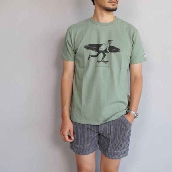 テス ザエンドレスサマー Tシャツ TES THE ENDLESS SUMMER ローカル サーフ バム Tシャツ グリーングレー LOCAL SURF BUM TEE GREEN GRAY 2019春夏新作 charger
