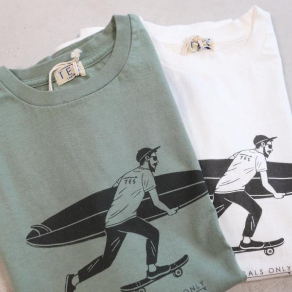 テス ザエンドレスサマー Tシャツ TES THE ENDLESS SUMMER ローカル サーフ バム Tシャツ グリーングレー LOCAL SURF BUM TEE GREEN GRAY 2019春夏新作 charger 05
