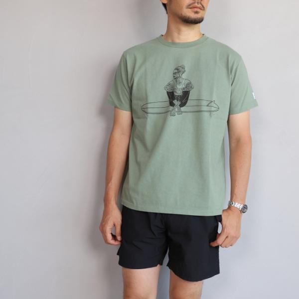 テス ザエンドレスサマー Tシャツ TES THE ENDLESS SUMMER マリブスター A Tシャツ グリーン グレー MALIBU STAR-A TEE GREEN GRAY 2019春夏新作|charger