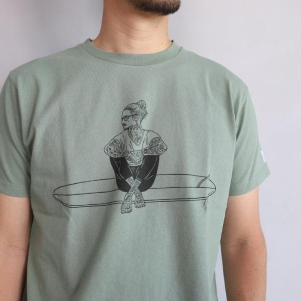テス ザエンドレスサマー Tシャツ TES THE ENDLESS SUMMER マリブスター A Tシャツ グリーン グレー MALIBU STAR-A TEE GREEN GRAY 2019春夏新作|charger|02