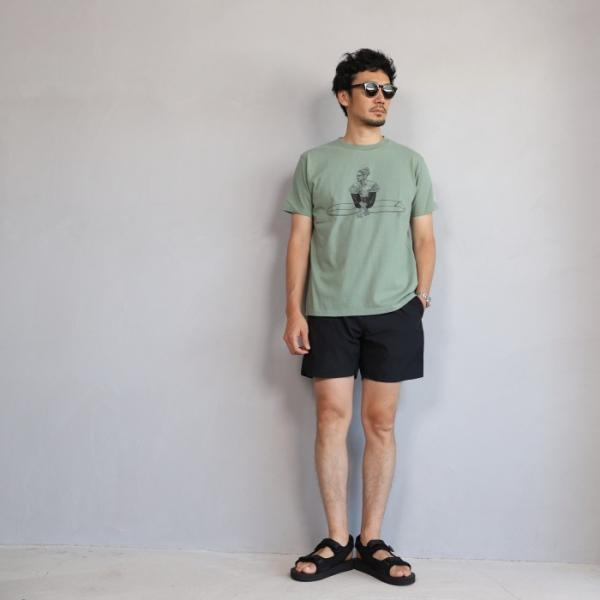 テス ザエンドレスサマー Tシャツ TES THE ENDLESS SUMMER マリブスター A Tシャツ グリーン グレー MALIBU STAR-A TEE GREEN GRAY 2019春夏新作|charger|04
