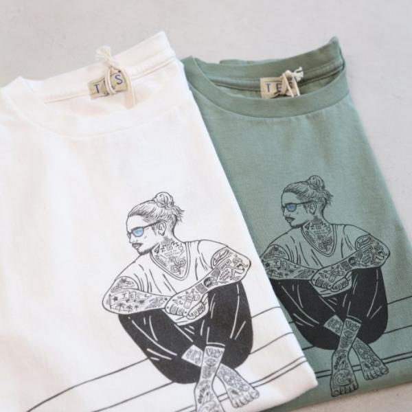 テス ザエンドレスサマー Tシャツ TES THE ENDLESS SUMMER マリブスター A Tシャツ グリーン グレー MALIBU STAR-A TEE GREEN GRAY 2019春夏新作|charger|05