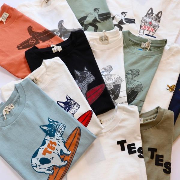テス ザエンドレスサマー Tシャツ TES THE ENDLESS SUMMER マリブスター A Tシャツ グリーン グレー MALIBU STAR-A TEE GREEN GRAY 2019春夏新作|charger|06