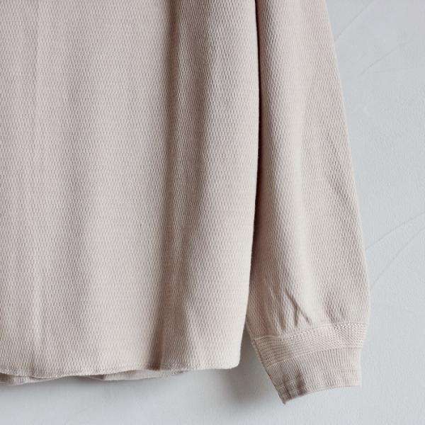 クロ カットソー KURO ハニカム ロングスリーブ Tシャツ HONEYCOMB L/S TEE ベージュ BEIGE 2019秋冬新作|charger|03