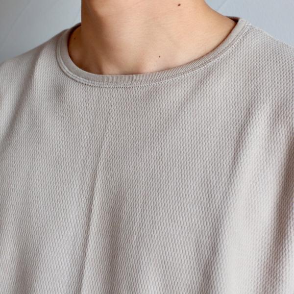 クロ カットソー KURO ハニカム ロングスリーブ Tシャツ HONEYCOMB L/S TEE ベージュ BEIGE 2019秋冬新作|charger|08