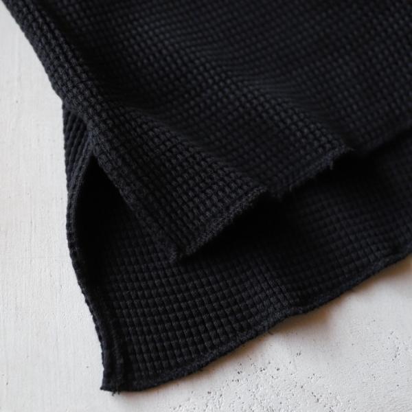alvana トップス アルヴァナ SUVIN WAFFLE CUT OFF L/S ワッフル カットオフ ロングスリーブ BLACK ブラック 2019秋冬新作|charger|09