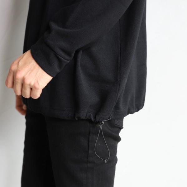 alvana カットソー アルヴァナ PARECOOL DROWCODE L/S TEE SHIRTS ペアクール ドローコード ロングスリーブ Tシャツ BLACK ブラック 2019秋冬新作 charger 03