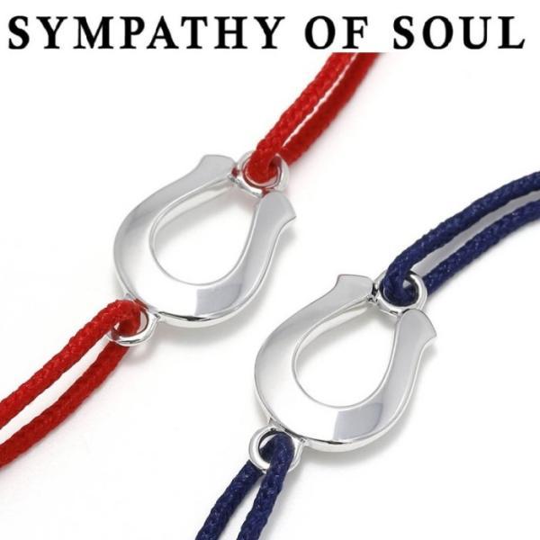 Safari 掲載 SYMPATHY OF SOUL シンパシーオブソウル  Horseshoe Amulet Cord Bracelet  Silver ホースシューアミュレットコードブレスレット  シルバー|charger