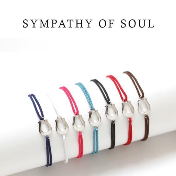 Safari 掲載 SYMPATHY OF SOUL シンパシーオブソウル  Horseshoe Amulet Cord Bracelet  Silver ホースシューアミュレットコードブレスレット  シルバー|charger|02