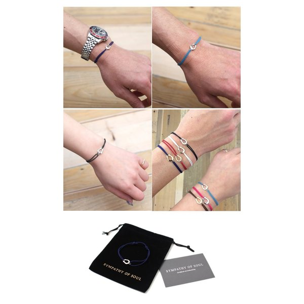 Safari 掲載 SYMPATHY OF SOUL シンパシーオブソウル  Horseshoe Amulet Cord Bracelet  Silver ホースシューアミュレットコードブレスレット  シルバー|charger|04