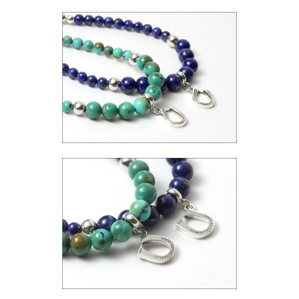 シンパシーオブソウル SYMPATHY OF SOUL Ball Beads Bracelet w/Horseshoe ボール ビーズ ブレスレット ホースシュー シルバー ターコイズ ラピスラズリ|charger|03