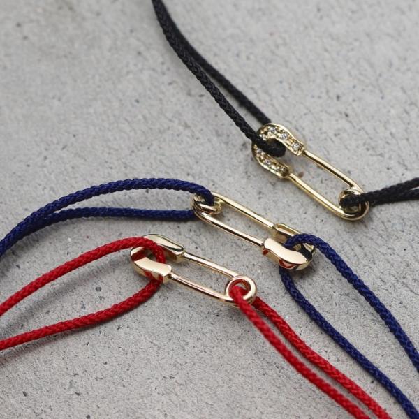 シンパシーオブソウル ブレスレット SYMPATHY OF SOUL Safety Pin Cord Bracelet  K18YG w/Diamond セーフティーピンコード K18YG w/ダイヤモンド|charger|13