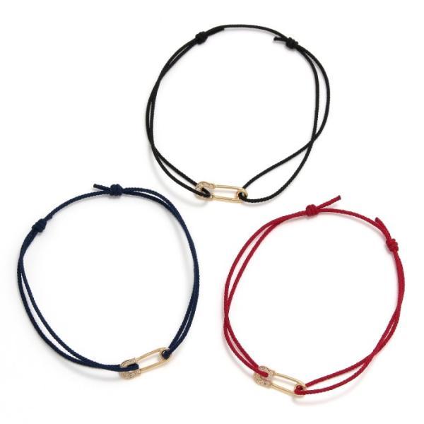 シンパシーオブソウル ブレスレット SYMPATHY OF SOUL Safety Pin Cord Bracelet  K18YG w/Diamond セーフティーピンコード K18YG w/ダイヤモンド|charger|03