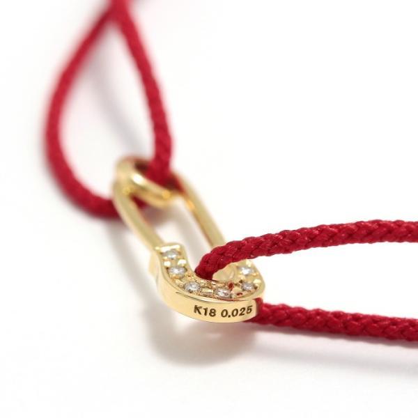 シンパシーオブソウル ブレスレット SYMPATHY OF SOUL Safety Pin Cord Bracelet  K18YG w/Diamond セーフティーピンコード K18YG w/ダイヤモンド|charger|05