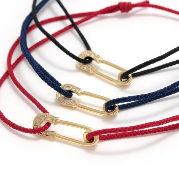 シンパシーオブソウル ブレスレット SYMPATHY OF SOUL Safety Pin Cord Bracelet  K18YG w/Diamond セーフティーピンコード K18YG w/ダイヤモンド|charger|07