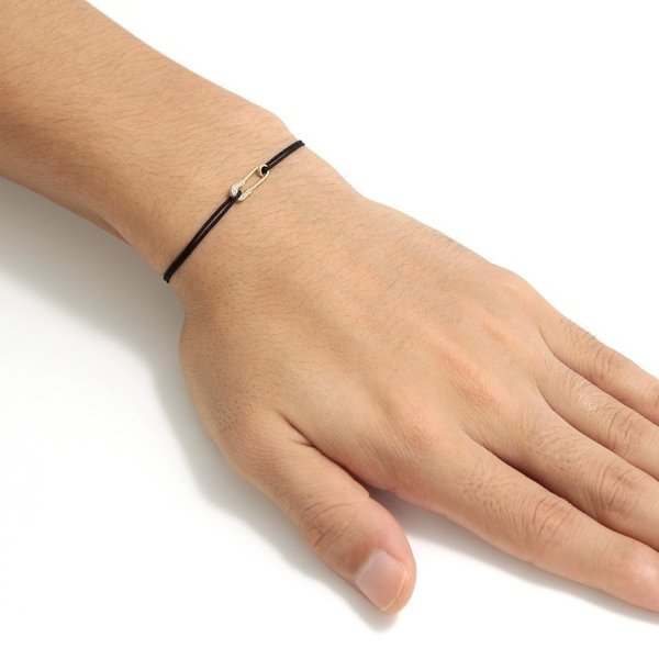 シンパシーオブソウル ブレスレット SYMPATHY OF SOUL Safety Pin Cord Bracelet  K18YG w/Diamond セーフティーピンコード K18YG w/ダイヤモンド|charger|08
