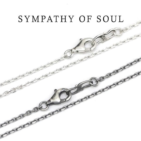 SYMPATHY OF SOUL ,シンパシーオブソウル,Silver Square Cable Chain 1.6mm Hook - 45cmスクエアーキューブチェーン 45cm Shiny,燻し 通販|charger|02
