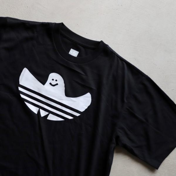 アディダスオリジナルス マークゴンザレス コラボ Tシャツ adidas originals  SHMOO TEE BLACK WHITE シュムー Tシャツ ブラック 2019秋冬新作|charger