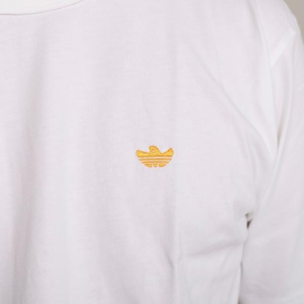 アディダスオリジナルス マークゴンザレス コラボ Tシャツ adidas originals  MINI SHMOO TEE WHITE YELLOW ミニ シュムー 刺繍 Tシャツ ホワイト 2019秋冬新作|charger|04