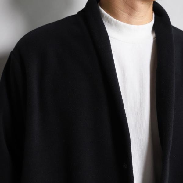 エディットクロージング カーディガン EDIT CLOTHING サーモライト フリース カーディガン THERMOLITE FLEECE CARDIGAN ブラック BLACK 2019秋冬新作 charger 02