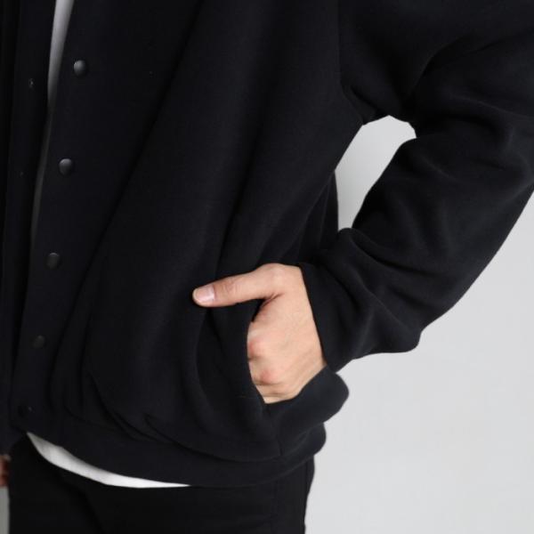 エディットクロージング カーディガン EDIT CLOTHING サーモライト フリース カーディガン THERMOLITE FLEECE CARDIGAN ブラック BLACK 2019秋冬新作 charger 04